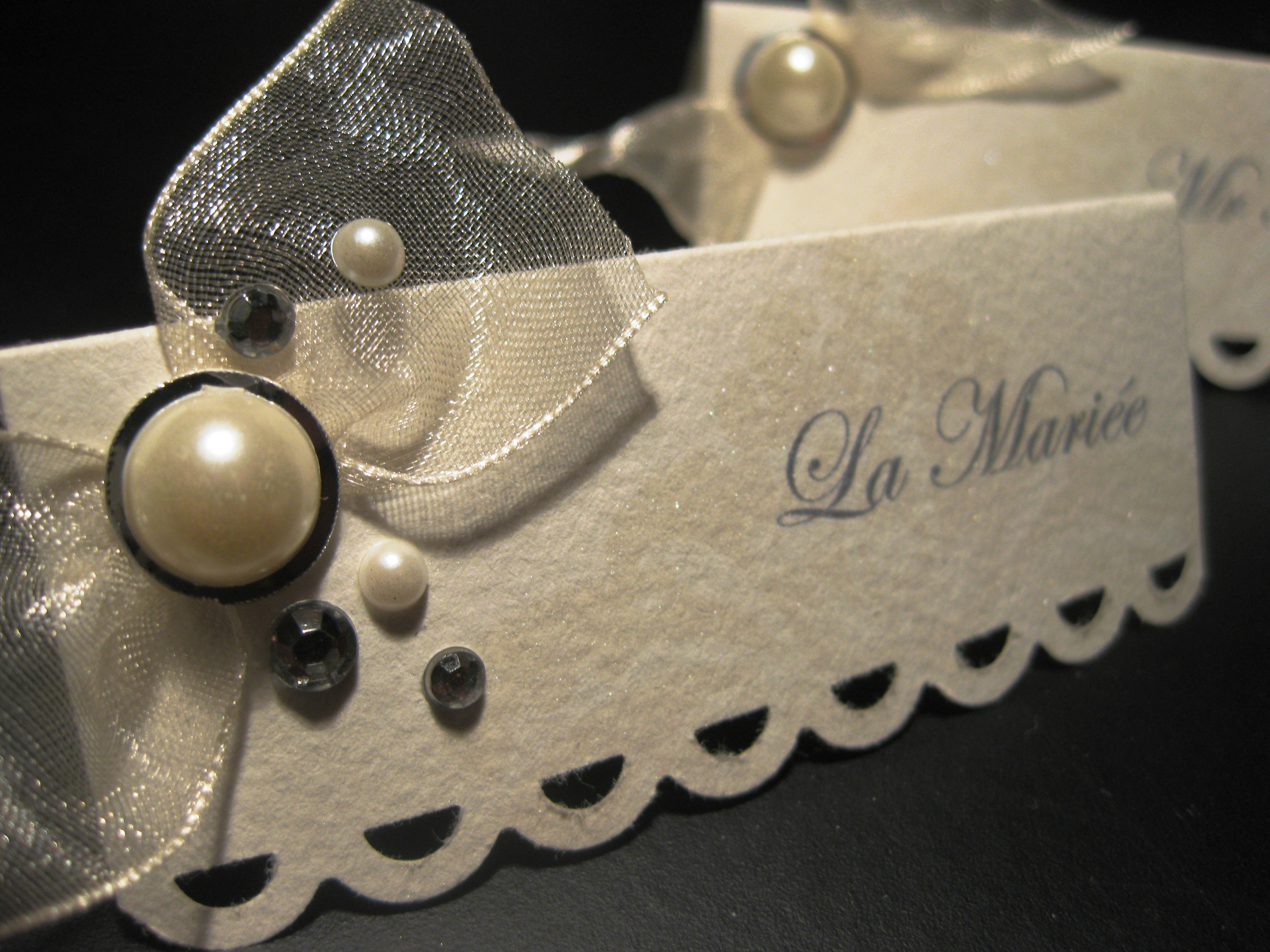 scrapbooking marque place mariage