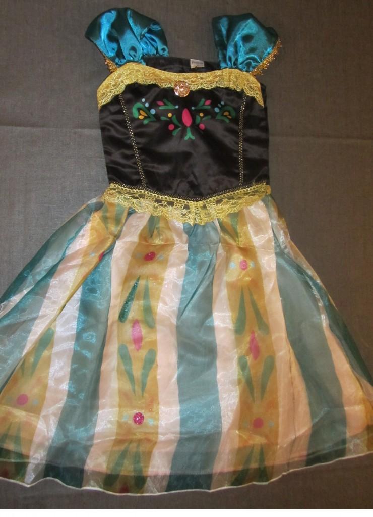 Anniversaire Reine des Neiges costume Anna