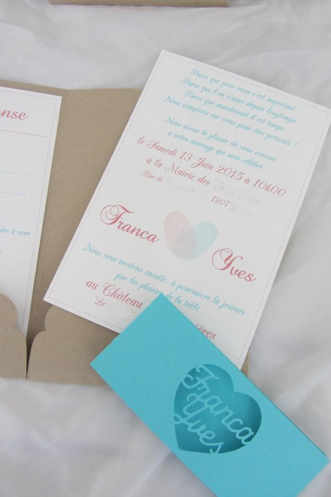 Faire-part mariage empreintes par Riveli www.scrapines.fr