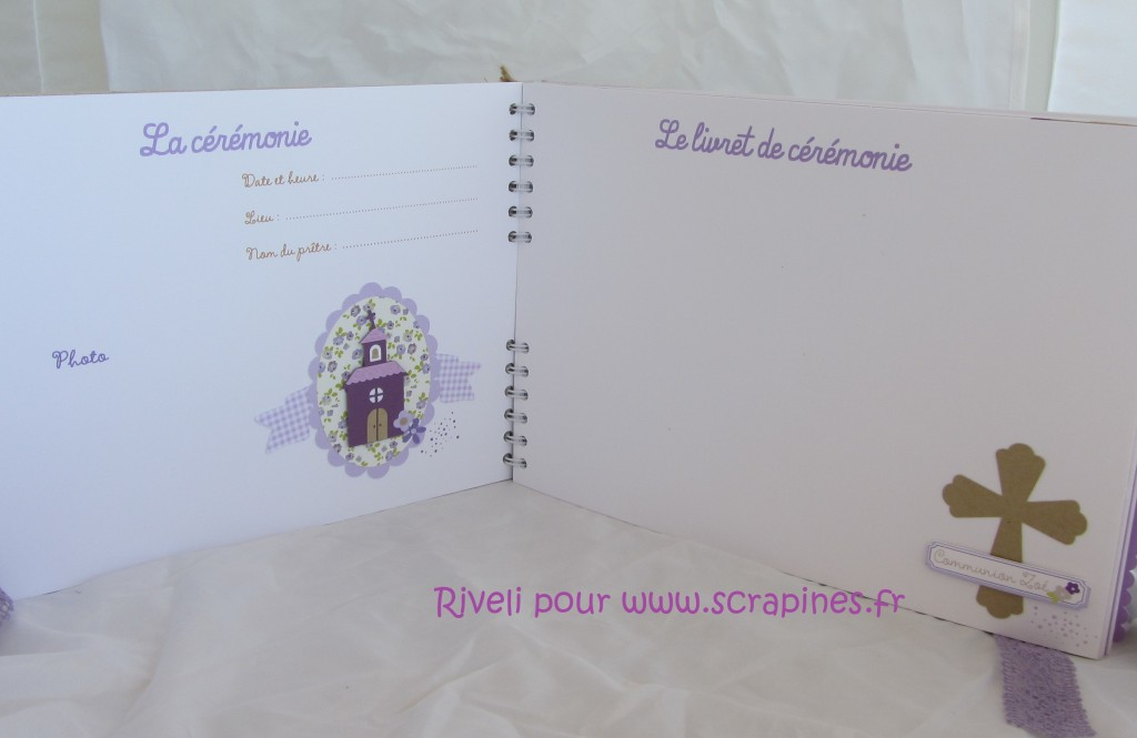 Livre communion Zoé par Riveli www.scrapines.fr