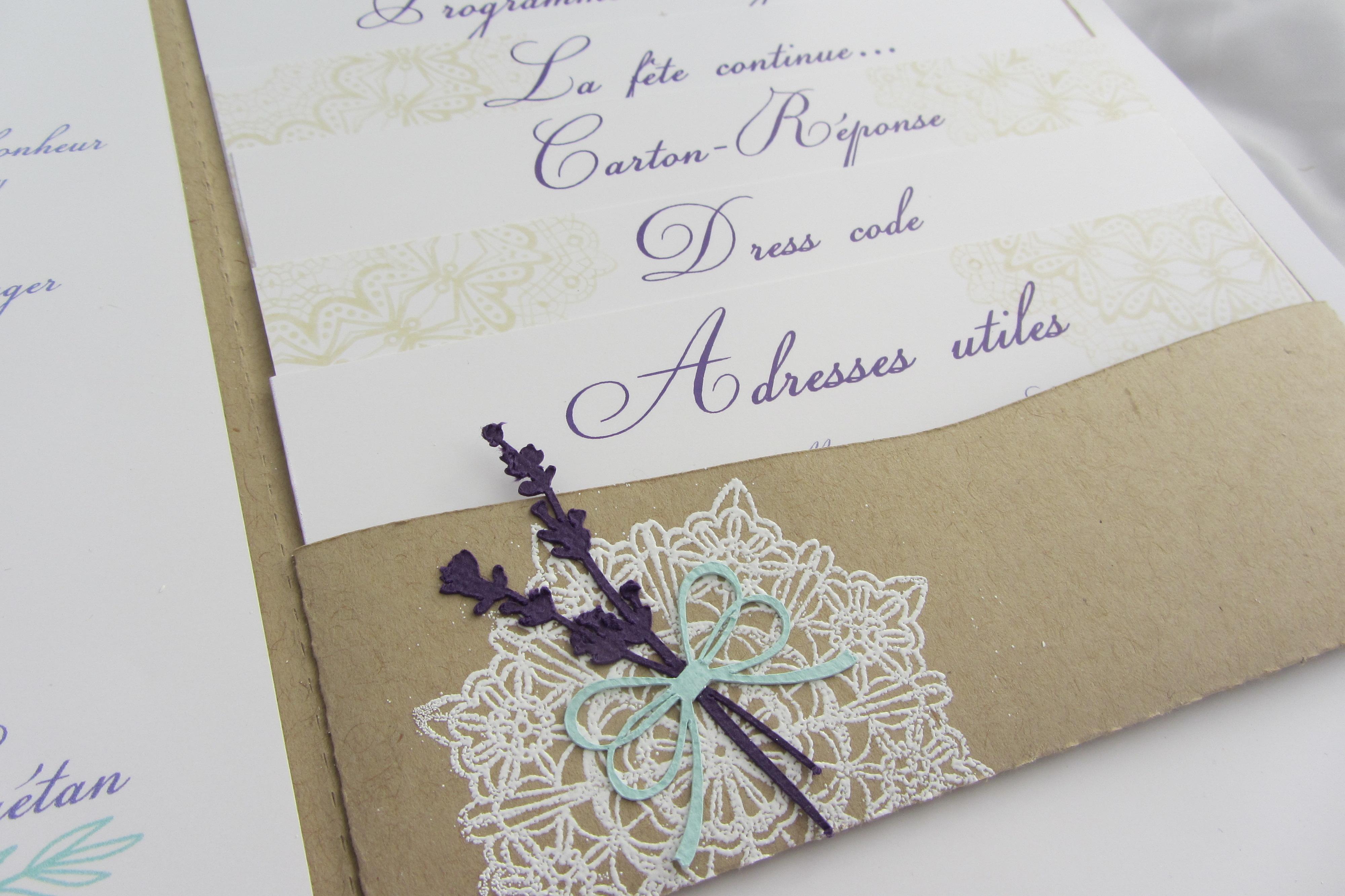 Extrêmement Faire-part mariage provençal CE17