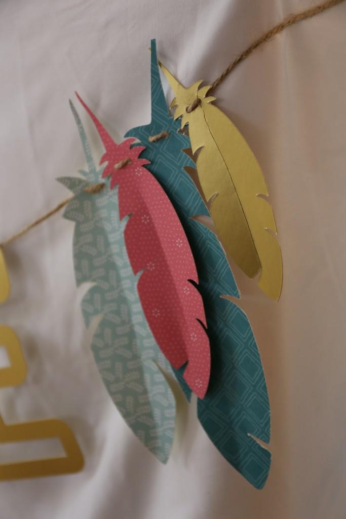 Guirlande prénom plumes by Riveli www.scrapines.fr
