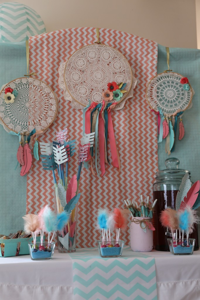 Sweet table anniversaire ethnique girly by Riveli www.scrapines.f