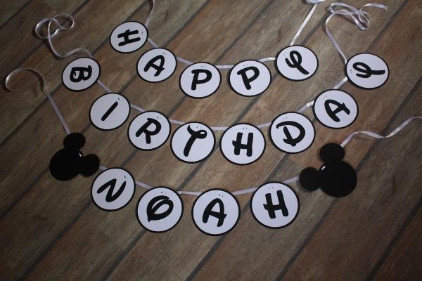 anniversaire-banderole-mickey
